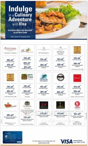 Exclusive offers and discounts for VISA Cards in Sri Lanka – till 01th September 2015
