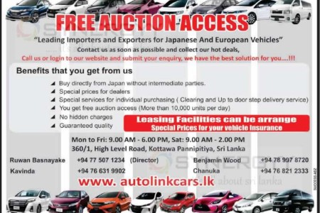 Free Auction Access to import vehicle from Japanese and Europe