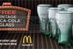 Free Coca Cola glass with extra value meal @ McDonalds – Offer valid till stock last