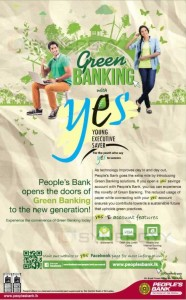 Green Banking with Yes Account from Peoples Bank