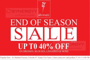 Upto 40% off @Avirate for End of Season sale