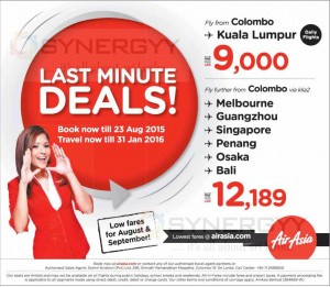 Book Air Asia Now and Fly till 31st January 2016