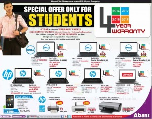 DellHpLenovo Laptop Special Prices for Students with 4 Years Warranty from Abans