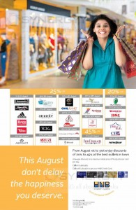 HNB Credit Card Promotion for August 2015
