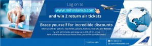 Log on to Mihin Lanka and win 2 Air Ticket