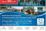 50% off at Jetwing Hotels for Commercial Bank Credit Cards – 31st October 2015