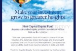 First Capital Equity Fund – Start your Unit Trust fund from Rs. 1,000/-