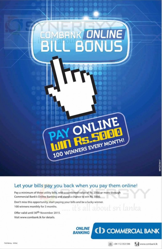 Pay you bill online – Commercial Bank Online Banking
