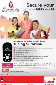 Dialog Suraksha mobile security for your Child
