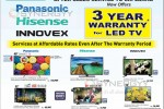 Panasonic, Hisense and Innovex LED Sale at Damro