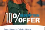 Redeem FlySmiles FlySmiLes and enjoy 10% off your redemption tickets