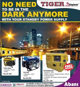 Tiger Generators in Sri Lanka - Rs. 18,100- upwards