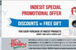 Buy Indesit Home appliances at discounted price and get a free Gift @ Hunters–Offer valid till stocks last