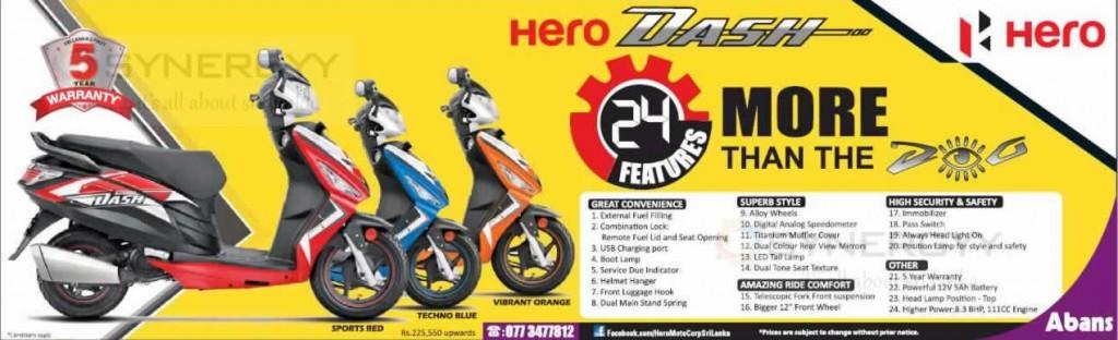 Hero Dash - New motor Scooter from Hero Motors