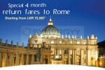 Sri Lankan Airline Special Fare to Rome – Rs. 72,087/- upwards