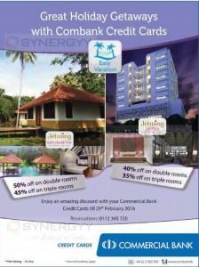 50% off at Jetwing Hotel for Commercial Bank Credit Card – Feb 2016