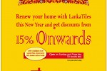 15% off from Lanka Tiles