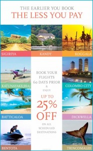 25% off on all Scheduled Flight of Cinnamon Air