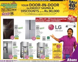 40% off to LG Linear Refrigerator – Special New Year Sale