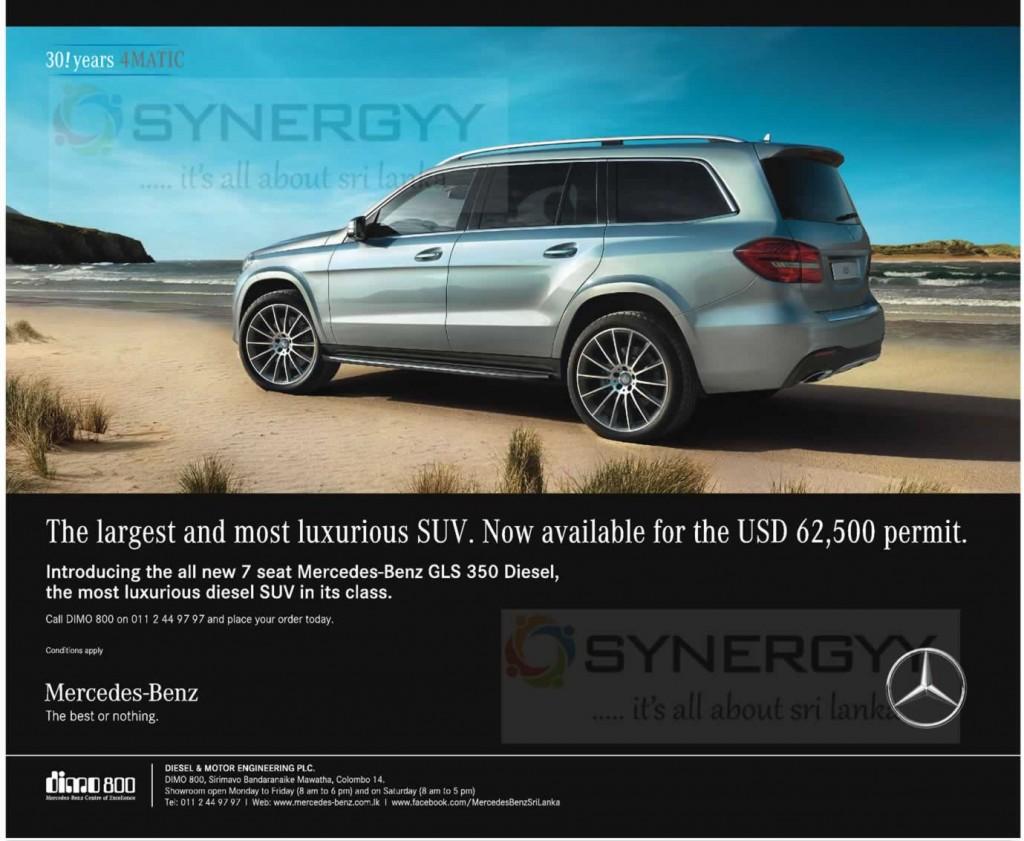 7 seat Mercedes-Benz GLS 350 Diesel for USD 62,500 Permit