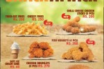 New Menu of Burger King Sri Lanka – March 2016