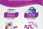 Sanasa Development Bank Certificate of Deposits and Gifts