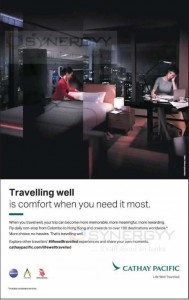 Cathay Pacific – More Comfort Journey in Air