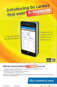 Commercial Bank e-Passbook on your phone now