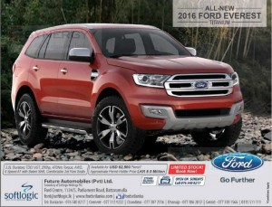 Ford Everest Titanium 2016 now available in Sri Lanka for Rs. 8.5 Million for Permit Holders