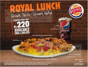 Burger King Royal Lunch – Just for Rs. 220