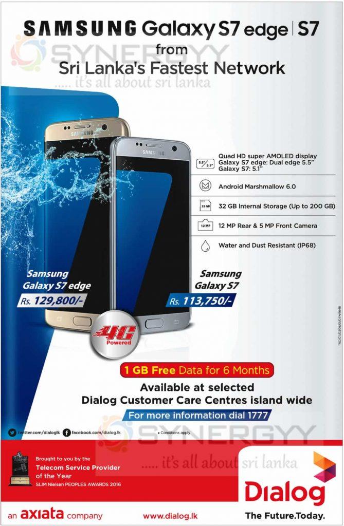 Samsung Galaxy S7 edge & S7 from Dialog Axiata
