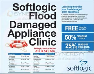 Softlogic Free Service for flood damaged home appliances
