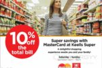 10% off on total bill for Master Card at Keells Super