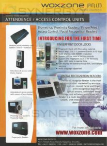 Attendance and Access Control Units from Woxzone