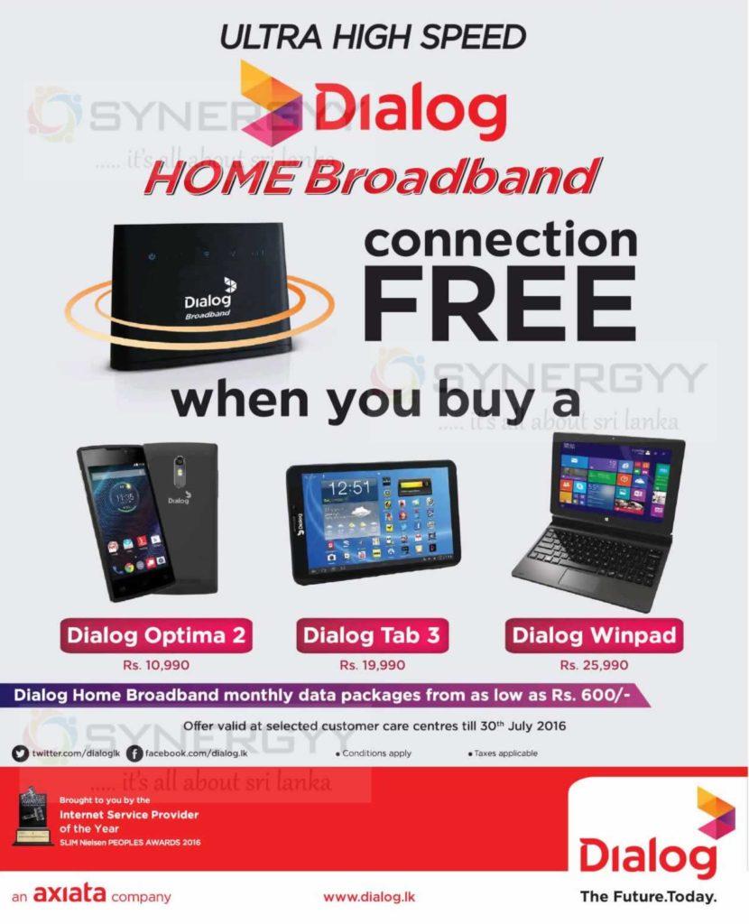 Free Dialog Home Broadband from Dialog