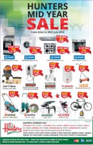 Hunters Mid Year Sale from 2nd to 30th July 2016