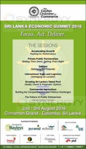 Sri Lanka Economic Summit 2016 by The Ceylon Chamber of Commerce