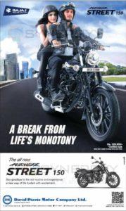 Bajaj Avenger Street 150cc now again in Colombo for Rs. 329,900/-