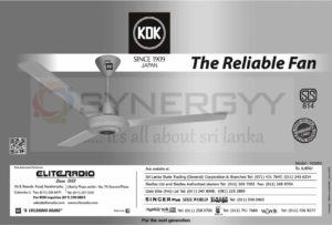 KDK Ceiling Fan for Rs. 6,490.00 from Eliteradio