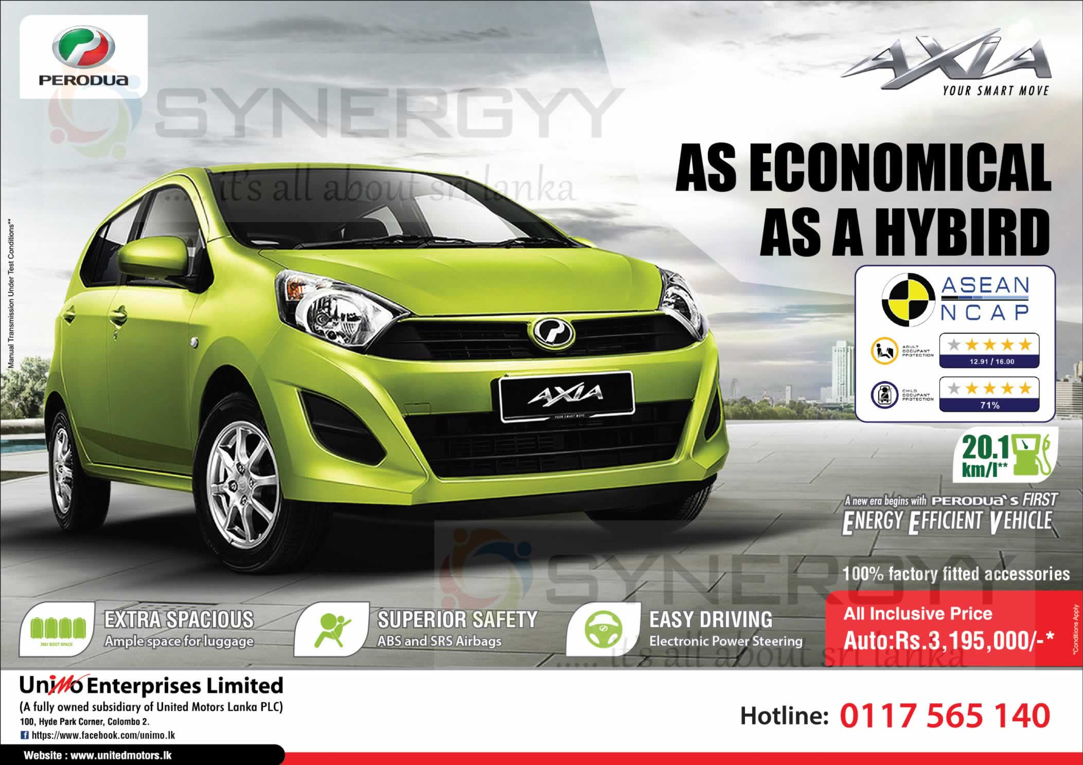 Perodua Axia Auto Rs 3 195 000 00 All Inclusive Price