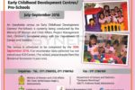 National Census on Early Childhood Development Centres/ Pre-Schools – July-September 2016