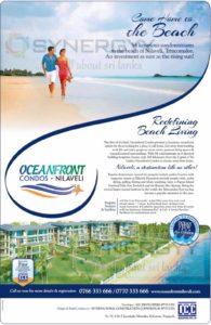 Have your Own Oceanfront Condominium Apartment at Nilaveli Beach