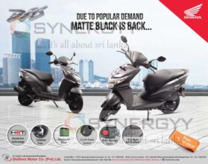 Honda Dio now available for Rs. 227,500- in Sri lanka