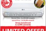 LG Air Conditioner for Rs. 99,900/- on wards from Abans
