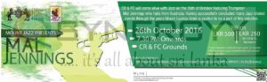 Mal Jennings Jazz events on 26th October 2016 at CR&FC