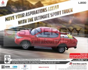 Mitsubishi L200 Sportero for Rs. 6,590,000/- in Sri Lanka