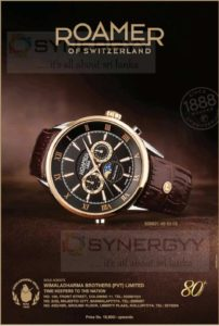 Roamer Swiss Make Watch for Rs. 18,900.00 from Wimaladharma Brother
