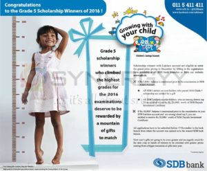 Sanasa Development Bank special gifts for Grade 5 Scholarship Winners of 2016