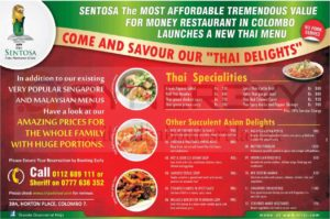 Sentosa Family Restaurant and Café in Colombo