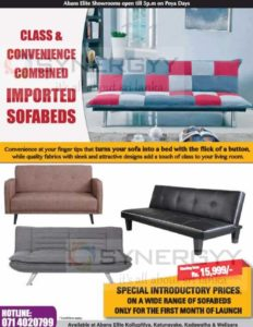 Sofa bed from Abans for Rs.15,999.00